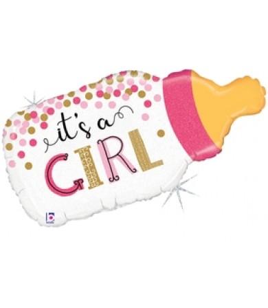 "25135P- Confetti Baby Bottle Girl (29"")"